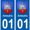 01 Ambutrix city sticker, plate sticker