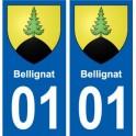 01 Bellignat ville autocollant plaque sticker