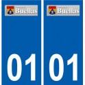 01 Buellas logo ville autocollant plaque sticker