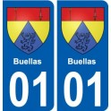 01 Buellas ville autocollant plaque sticker