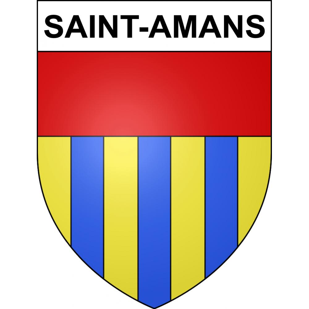 Stickers coat of arms Saint-Amans adhesive sticker
