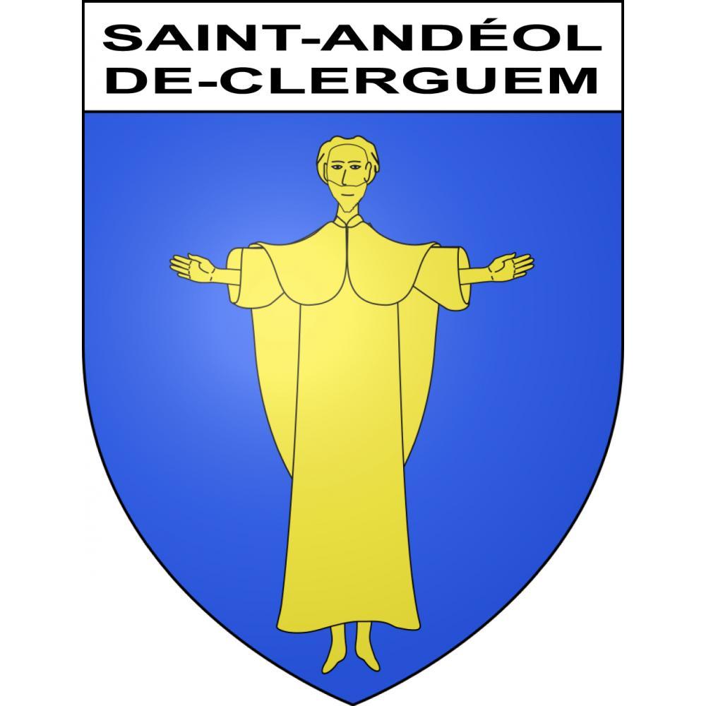 Stickers coat of arms Saint-Andéol-de-Clerguem adhesive sticker