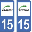 15 Cantal autocollant plaque