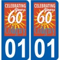 01 Coligny logo city sticker, plate sticker