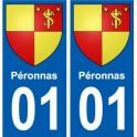 01 Péronnas city sticker, plate sticker