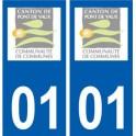 01 Pont-de-Vaux logo city sticker, plate sticker