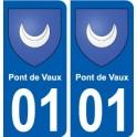 01 Pont-de-Vaux ville autocollant plaque sticker