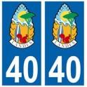 40 Landes blason pins autocollant plaque