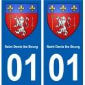 01 Saint-Denis-lès-Bourg ville autocollant plaque sticker