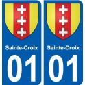 01 Sainte-Croix ville autocollant plaque sticker