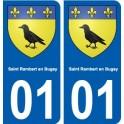 01 Saint-Rambert-en-Bugey city sticker, plate sticker