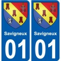 01 Savigneux city sticker, plate sticker