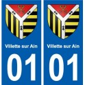 01 Villette-sur-Ain city sticker, plate sticker