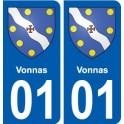 01 Vonnas city sticker, plate sticker