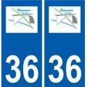 36 Buzançais logo autocollant plaque stickers ville
