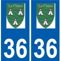 36 La Châtre logo autocollant plaque stickers ville