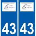 43 Saint-Just-Malmont logo autocollant plaque immatriculation ville