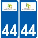 The 44-Basse-Goulaine logo sticker plate stickers city