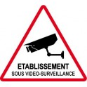 Autocollant Etablissement sous vidéo surveillance alarme