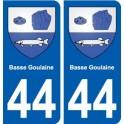 44 Basse-Goulaine autocollant plaque stickers ville