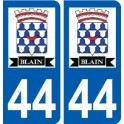 44 Blain logo sticker plate stickers city