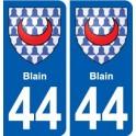 44 Blain sticker plate stickers city