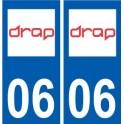06 Drap logo ville sticker autocollant plaque
