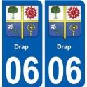 06 Drap ville sticker autocollant plaque