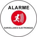 Autocollant alarme sous vidéo surveillance électronique