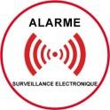 Autocollant sous vidéo surveillance alarme logo