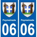 06 Peymeinade city sticker sticker plate