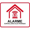 Sticker for Establishment home-store under video surveillance alarm 7