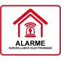 Autocollant Etablissement maison magasin sous vidéo surveillance alarme