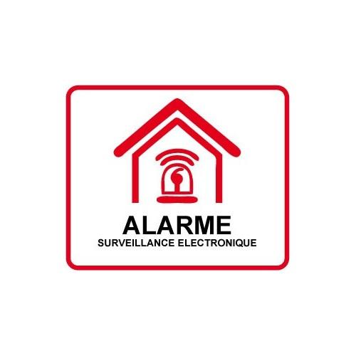autocollant etablissement maison magasin sous vid o surveillance alarme sticker. Black Bedroom Furniture Sets. Home Design Ideas