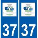 37 Ballan-Miré logo ville autocollant plaque stickers