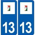 13 The Bouilladisse logo city sticker, plate sticker