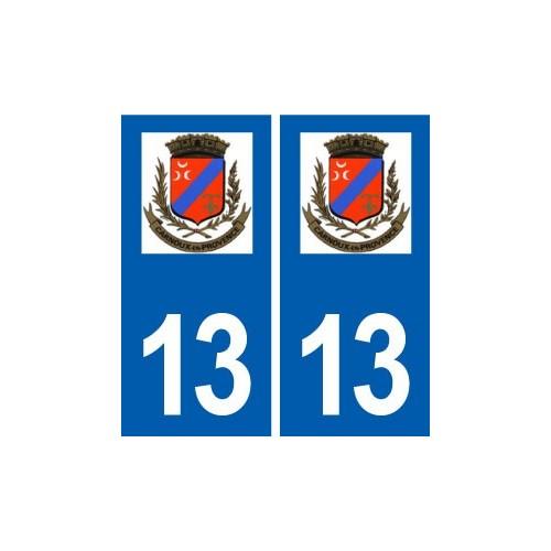 13 Carnoux en Provence logo ville autocollant plaque sticker