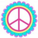 Peace love logo2 autocollant sticker adhesif