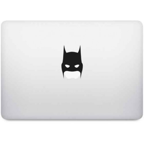Batman pomme sticker adhesif pour mac apple