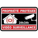 Sticker property under video surveillance alarm logo n°8 sticker