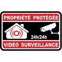 Autocollant propriété sous vidéo surveillance alarme 8