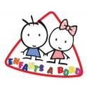 Sticker, child on board logo1 sticker adhesive
