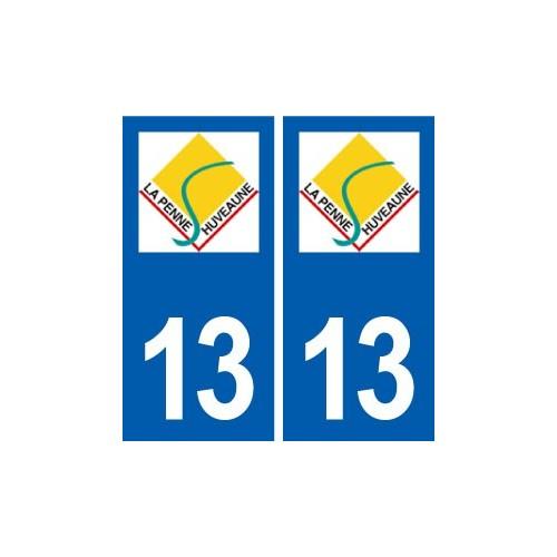 13 La Penne-sur-Huveaune logo ville autocollant plaque sticker