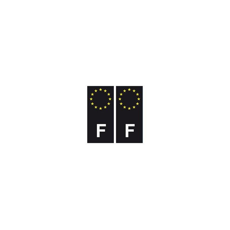 autocollant plaque immatriculation blason d partement f. Black Bedroom Furniture Sets. Home Design Ideas