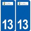 13 The Puy-Sainte-Réparade logo city sticker, plate sticker