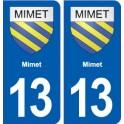 13 Mimet coat of arms, city sticker, plate sticker
