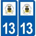 13 Noves logo city sticker, plate sticker