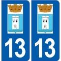 13 Peyrolles-en-Provence logo ville autocollant plaque sticker