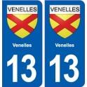13 Venelles blason ville autocollant plaque sticker