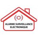 Autocollant alarme surveillance electronique logo10